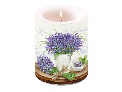 Svíčka dvouplášťová Lavender Scene Cream