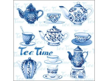 Napkin 33 Tea Moments Blue