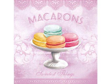 Napkin 33 Macarons Rose