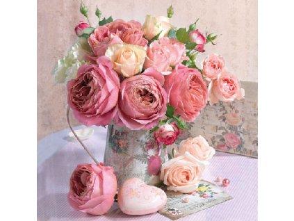 Napkin 33 Roses In Pot