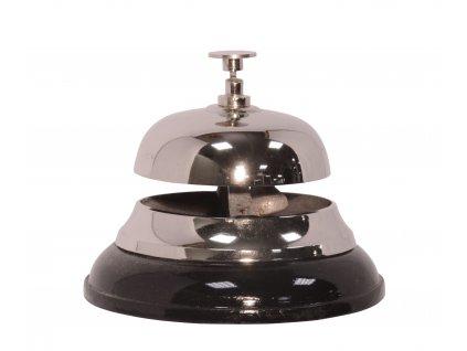 Recepční zvonek stříbrný