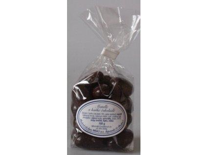 Mandle v hořké čokoládě 100g