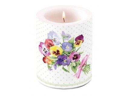 Svíčka dvouplášťová Bunch of Violets Green