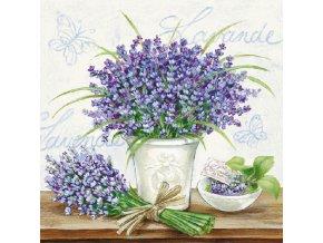 Napkin 33 Lavender Scene Cream