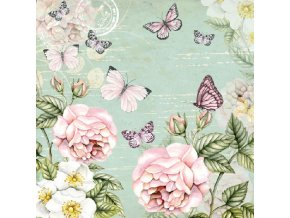 Napkin 33 Botanical Green