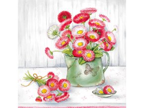 Napkin 33 Bellis In Pot