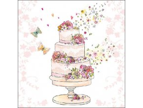 Napkin 33 Flowered Wedding Cake