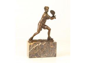 Bronzová socha tenista