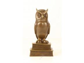 Bronzová socha sova