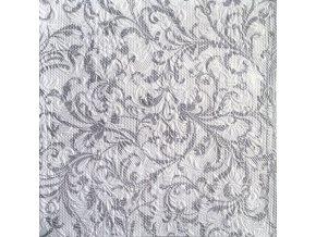 Ubrousky 33 Elegance Damask White/Silver