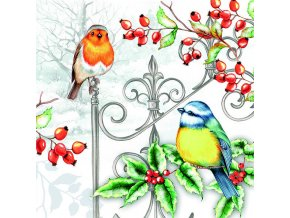 Ubrousky 33 Birds & Holly