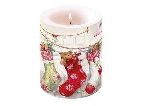 Svíčka velká Christmas Stockings